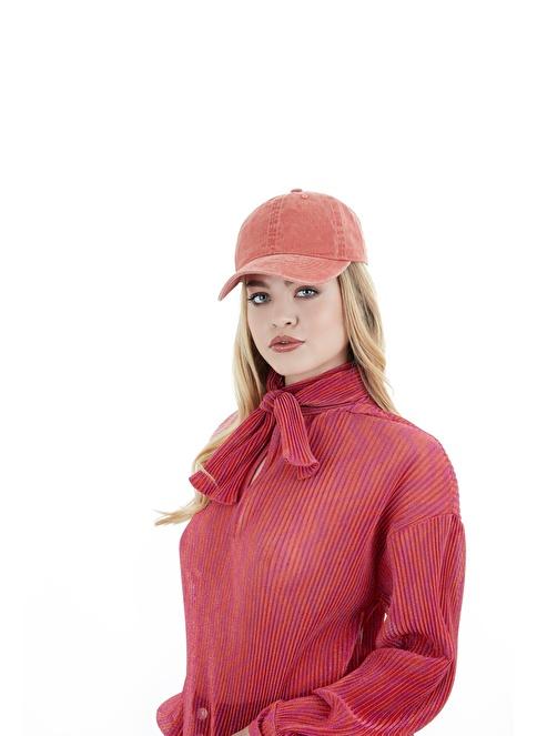 Laslusa Düz Renk Beyzbol Cap Şapka Bordo